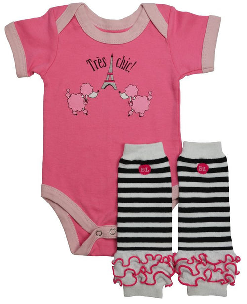 French Twist BL Bodysuit Set - Newborn 0-3M - Through my baby's eyes