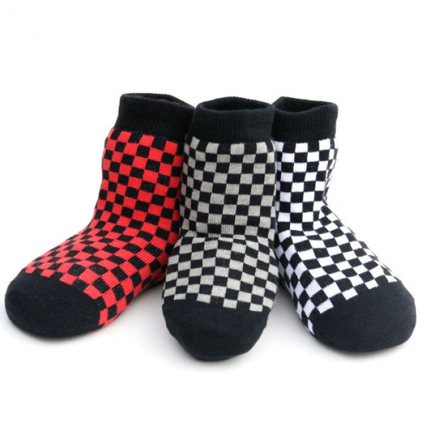 Organic Cotton Checker Sock Set - Through my baby's eyes