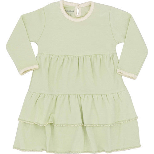 Green/Natural Ruffle Dress - 24 months - Through my baby's eyes