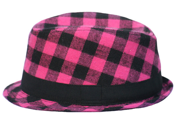 Pink & Black Fedora - Through my baby's eyes