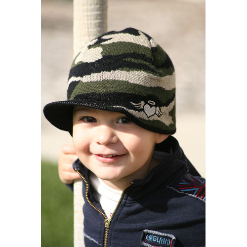 Custom Camouflage Visor Beanie - Through my baby's eyes