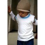 Tan Waffle Visor Beanie with Tag - Through my baby's eyes