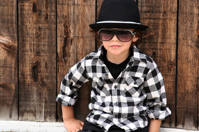 Black Fedora with Black and White Band - Through my baby's eyes