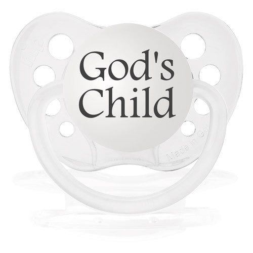 Expression Pacifiers - God's Child - Through my baby's eyes