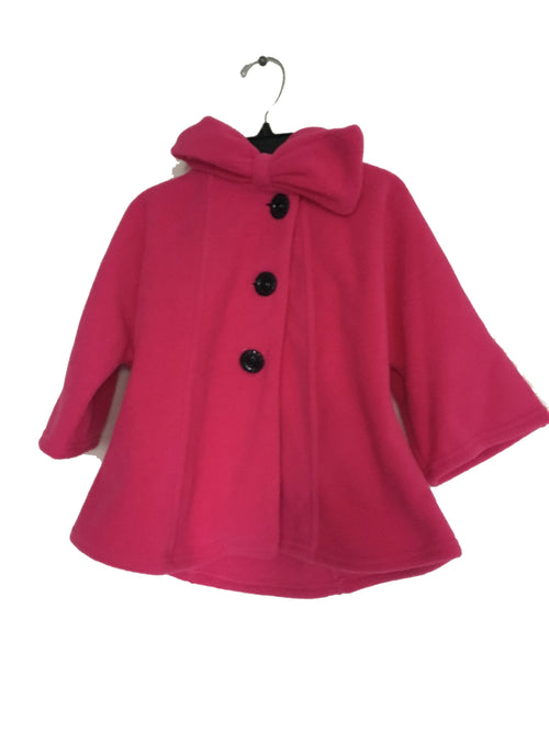 Fleece Warm Coat For Girls - Hot Pink - Through my baby's eyes
