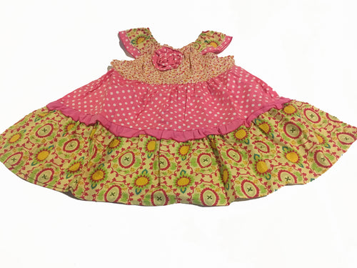 Girls Flower Dress - Pink - Through my baby's eyes