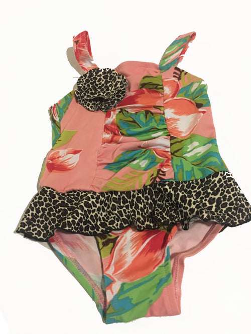 Girls Island One Piece Bathing Suit - Through my baby's eyes