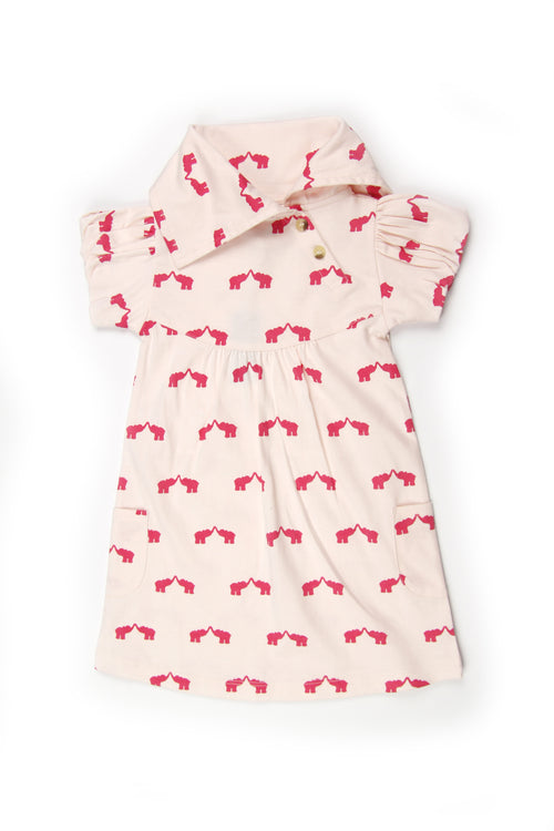 Puff Sleeve Lounge Dress | Elephant - Through my baby's eyes