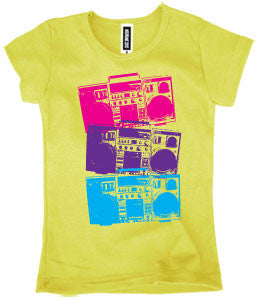 Boom Box Tee - White - Through my baby's eyes