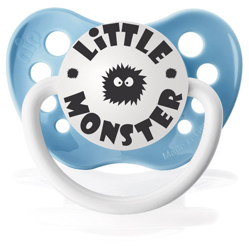 Expression Pacifiers - Little Monster (Baby Blue) - Through my baby's eyes