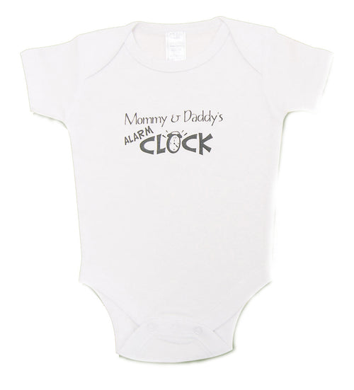 Mommy & Daddy's Alarm Clock Onesie - Through my baby's eyes