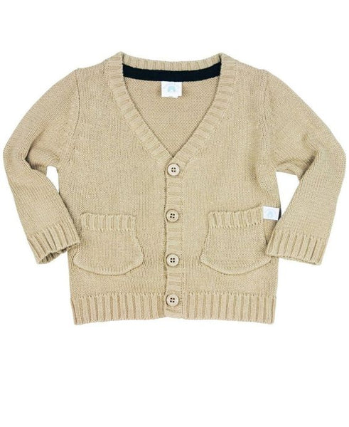 Tan Grandpa Cardigan - Through my baby's eyes