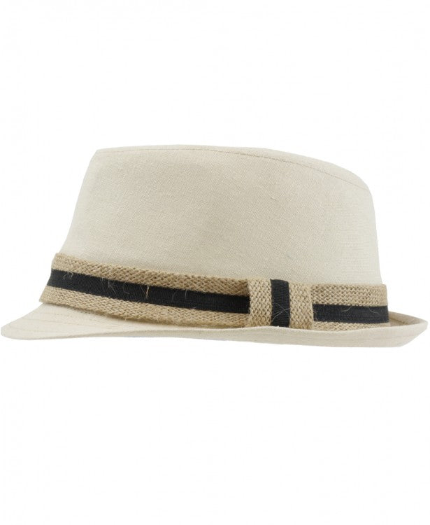 Brayden Burlap Fedora - Through my baby's eyes