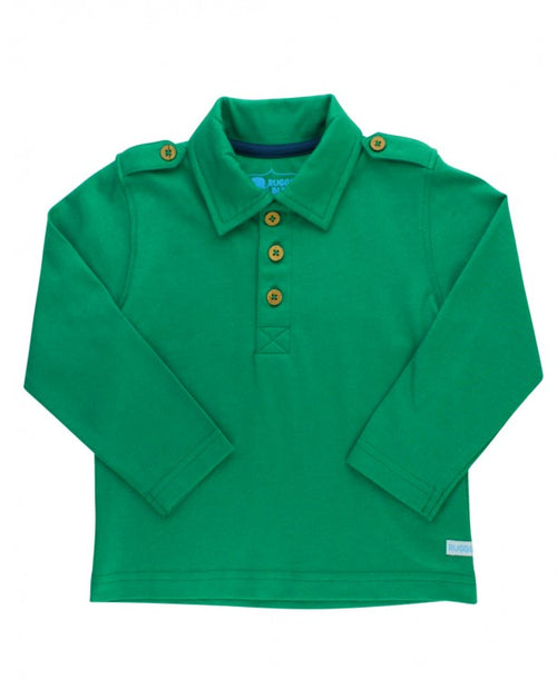Emerald Long Sleeve Polo - Through my baby's eyes