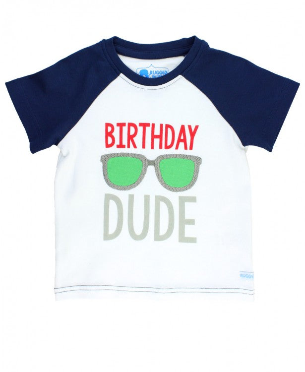 Birthday Dude Raglan Tee - Through my baby's eyes