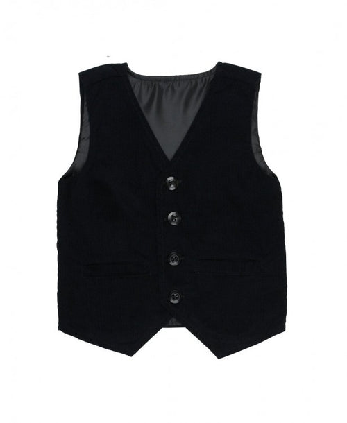 Black Corduroy Vest - Through my baby's eyes