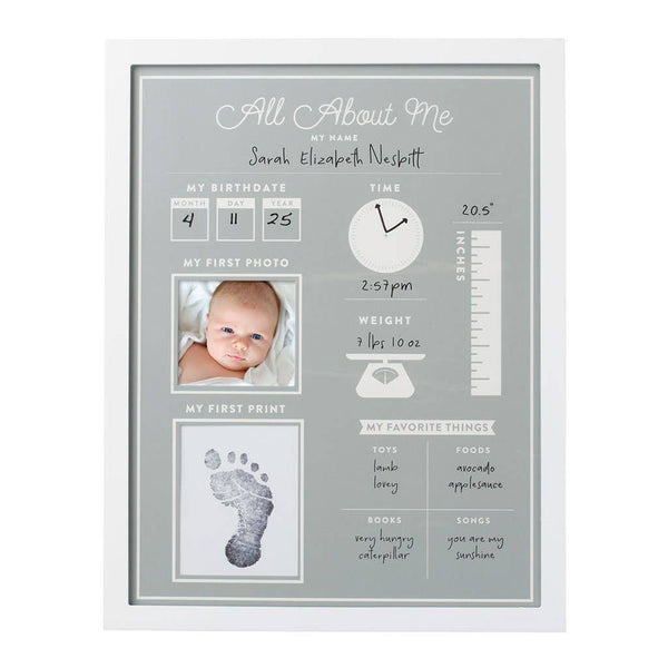 All About Me Baby's 1st Year Frame and Clean-Touch Ink Pad