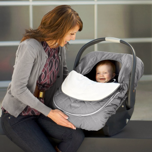 car seat cover - graphite - Through my baby's eyes