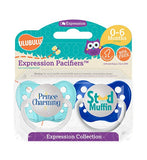 Expression Pacifiers - Prince Charming & Stud Muffin 0-6M - Through my baby's eyes