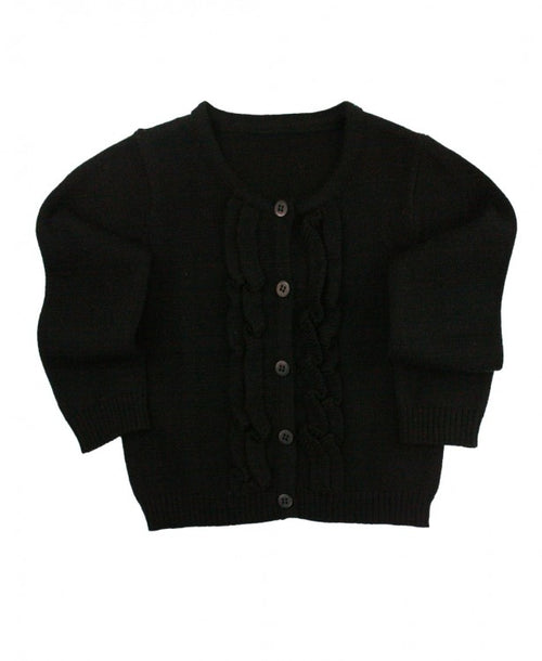 Black Ruffled Cardigan - Through my baby's eyes