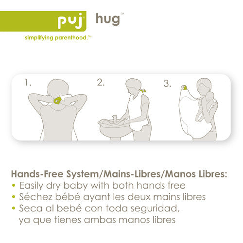 Hug - Hands Free Hooded Infant Towel - Through my baby's eyes