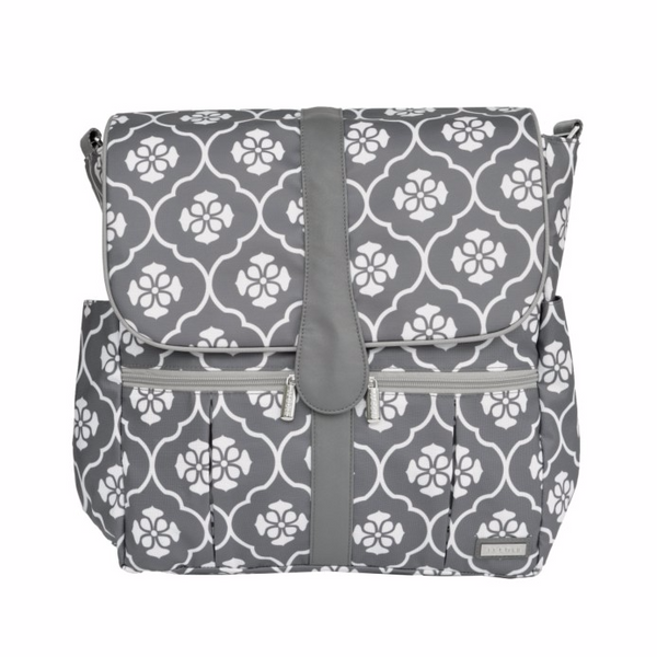 Backpack - Gray Floret - Through my baby's eyes