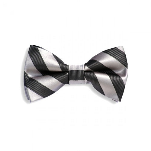Baby/Kids Light Gray & Black Bow Tie - Through my baby's eyes