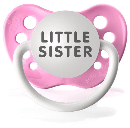 Expression Pacifiers - Little Sister (Pink) - Through my baby's eyes