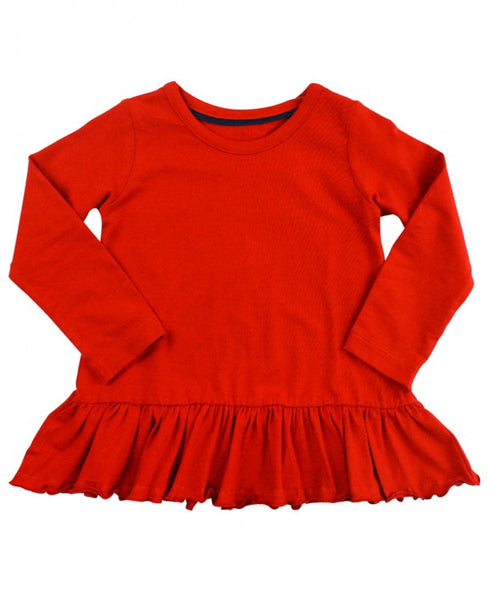 Red Peplum Top - Through my baby's eyes