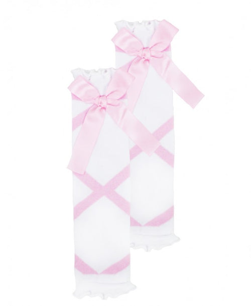 Pink Ballet Bow Leg Warmers© - One size - Through my baby's eyes