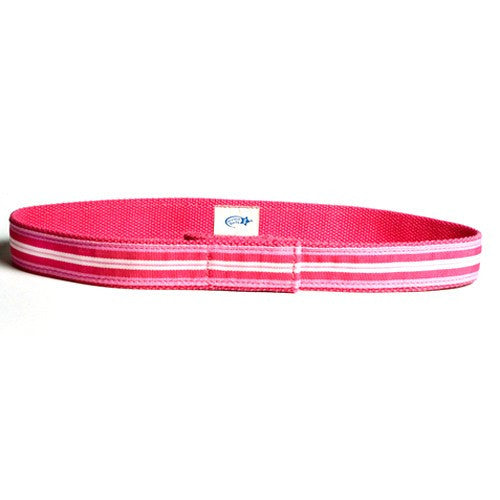 Myself Belts - Pink Striped Ribbon - Through my baby's eyes