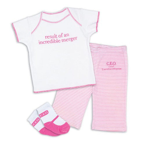 Result of a Merger CEO Girl - 3 pc set - Through my baby's eyes
