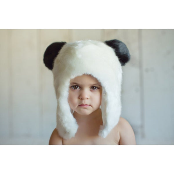 Panda Faux Fur Hat - Through my baby's eyes