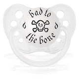 Expression Pacifiers - Bad to the Bone (Clear) - Through my baby's eyes