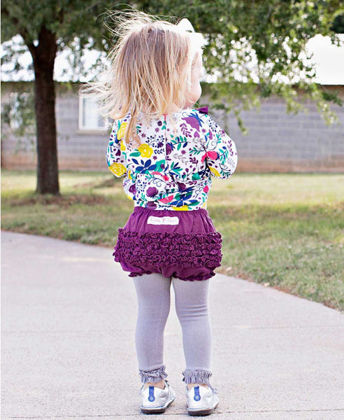 Plum Knit RuffleButt - Through my baby's eyes