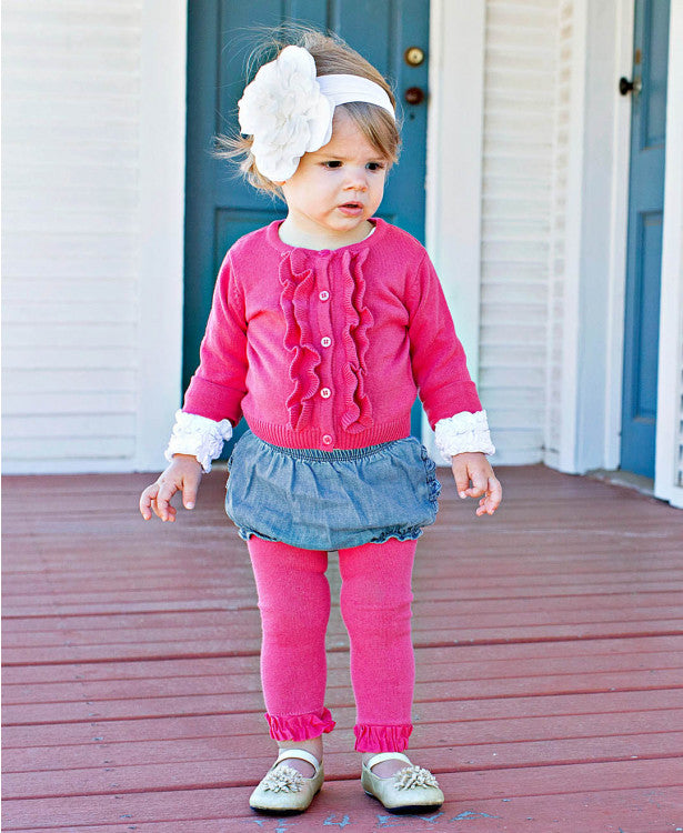 Candy Footless Ruffle Tights - Through my baby's eyes