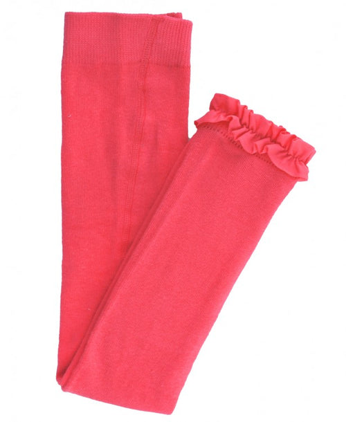 Coral Footless Ruffle Tights - Through my baby's eyes