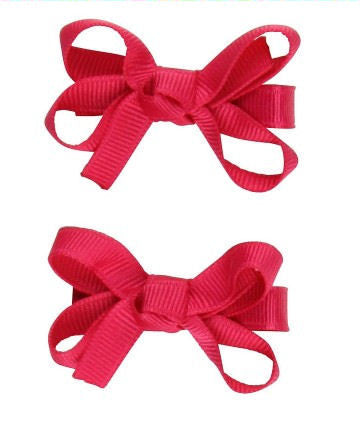 Bows - Fuchsia Double - Through my baby's eyes
