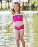 RuffleButts Ruched Polka Dot Bikini - Through my baby's eyes