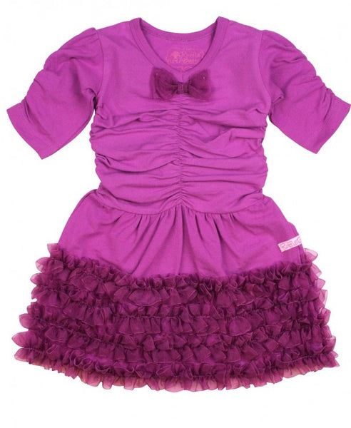 Plum Organza Party Dress - Through my baby's eyes