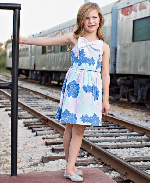 Pastel Petals Fit & Flare Bow Dress - Through my baby's eyes