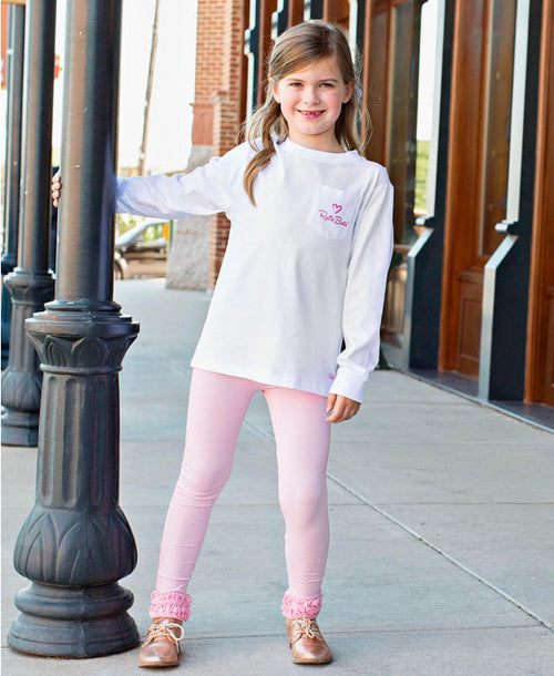 Pink Everyday Ruffle Leggings - Through my baby's eyes
