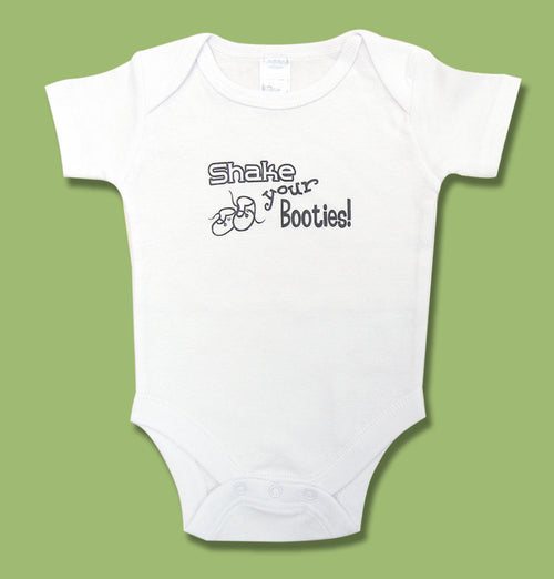 Shake Your Booties Onesie - Through my baby's eyes