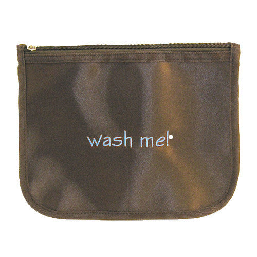 Go Baby Go: Wash Me Zippered Pouch - Blue - Through my baby's eyes