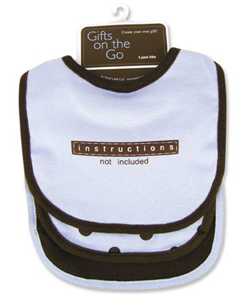 Instructions Not Included 3-Pack Bib Set - Through my baby's eyes