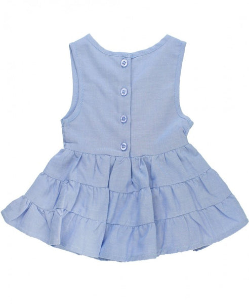 Blue Chambray Tiered Tank - Through my baby's eyes