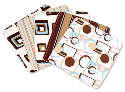 Cocoa Dots Print Wash Cloth Set - Through my baby's eyes