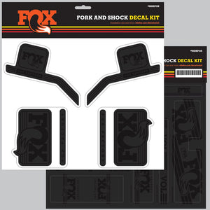 FOX Decal 2016 AM Heritage, Fork and Shock Kit, Stealth Black