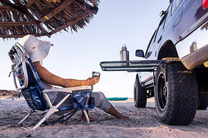 TailGater Tire Table Vehicle Tire-Mounted Steel Camping, Travel, and Outdoor Work Table