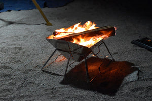 Compact Fire Pit and BBQ